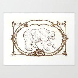 Bear Vignette Art Print