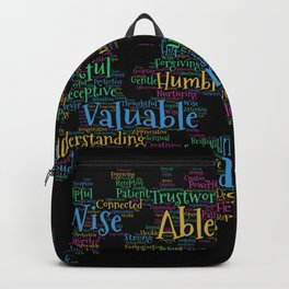 Quote affirmations SUSA Custom Backpack
