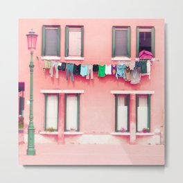Laundry Venice Italy Travel Photography Metal Print