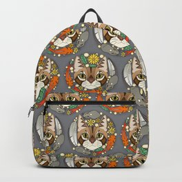 a cat's life polka iron Backpack