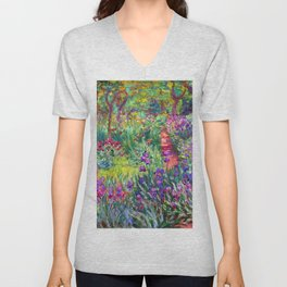 Claude Monet Garden in Giverny Unisex V-Neck