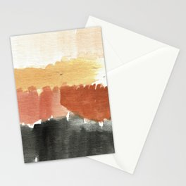 Abstract in Rust n Clay Stationery Cards