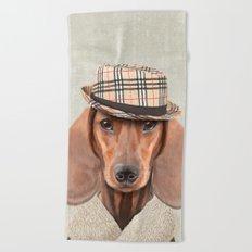 The stylish Mr Dachshund Beach Towel