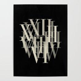 Text Roman Numerals Poster