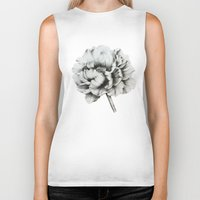 peony Biker Tanks featuring Peony by Lily Sayang