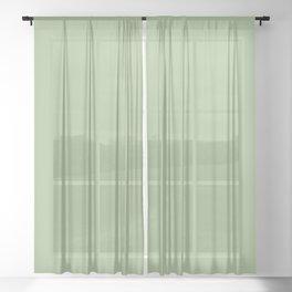 246. Wasabi-iro (Japanese Horseradish-Color) Sheer Curtain