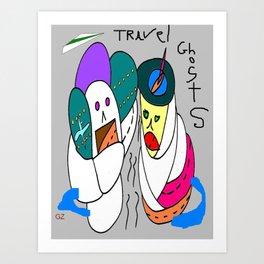 Travel Ghosts Art Print