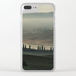 Magical morning in Toscany Clear iPhone Case