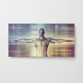 Medical Technology and Advanced Detection Scan Diagnostics System Metal Print