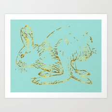 Golden Bun Art Print