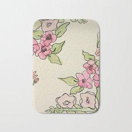 Cornered Floral Bath Mat