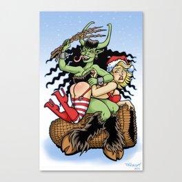 Krampus Spanking Canvas Print