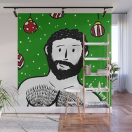 Beard Boy: Al I want for Christmas Wall Mural
