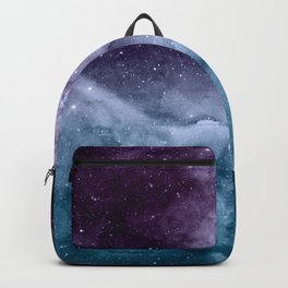 Watercolor and nebula abstract design Backpack
