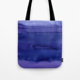 Blue Violet Watercolor Horizontal Stripes Abstract Tote Bag
