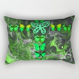 Emerald Fire Cross Rectangular Pillow