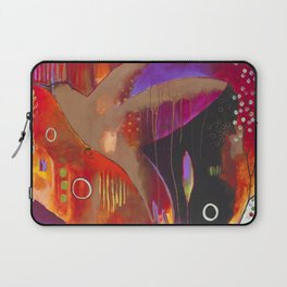 """Reflect You"" Original Painting by Flora Bowley Laptop Sleeve"