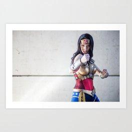 Katie Cosplays as Justice League Wonder W oman Art Print
