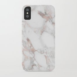 Rose Gold Marble Blush Pink Metallic Foil iPhone Case
