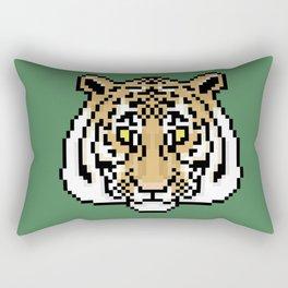 Pixel Tiger Face Rectangular Pillow