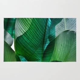 Palm leaf jungle Bali banana palm frond greens Rug