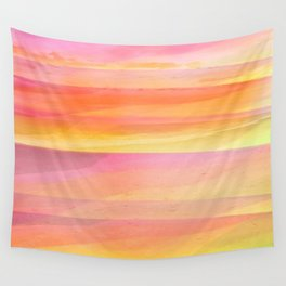 Seascape in Shades of Yellow and Peach Wall Tapestry
