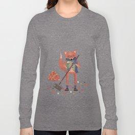 Ferdinand the Fall Fox Long Sleeve T-shirt