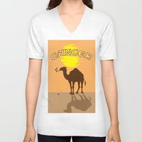 cancer V-neck T-shirts featuring Cancer by Tony Vazquez