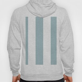 5th Avenue Stripe No. 3 in Robin's Egg Blue and White Onyx Hoody