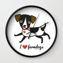 I love farmdogs Wall Clock