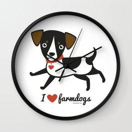 I love farmdogs Wall Clock