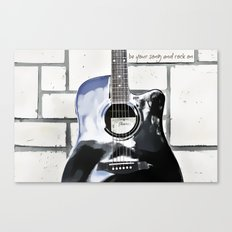Be Your Song and Rock On in White II Canvas Print