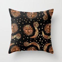 Ethereal Night Sky Throw Pillow