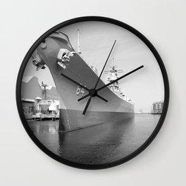 USS WISCONSIN photography Wall Clock