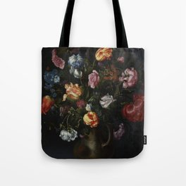 Jacob Vosmaer - A Vase with Flowers Tote Bag