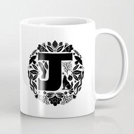 Letter J monogram wildwood Coffee Mug