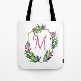 Jungle Gold Monogram Crest M Tote Bag