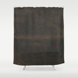 Vintage leather texture Shower Curtain