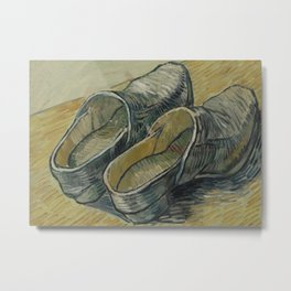 A Pair of Leather Clogs Metal Print
