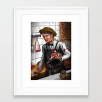 hannibal Framed Art Prints featuring HANNIBAL by Gart Graphisme