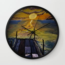 Sunset Bay Wall Clock