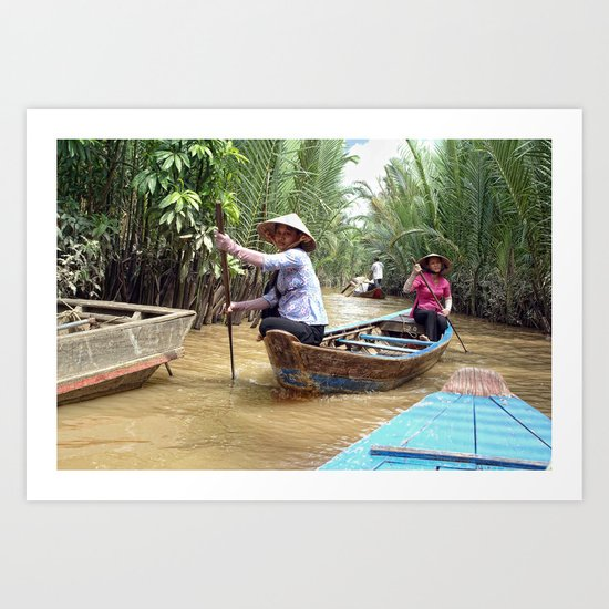 Mekong Delta Boat Ride Art Print