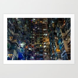Hong Kong Walled City Art Print