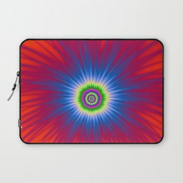 Blue Explosion on Red Laptop Sleeve