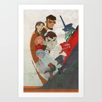 evangelion Art Prints featuring Evangelion by wwww