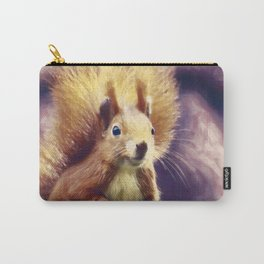 squirrel digital oil paint dopfn Carry-All Pouch