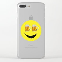 Happy Hour Face Clear iPhone Case