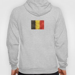 Vintage Aged and Scratched Belgian Flag Hoody
