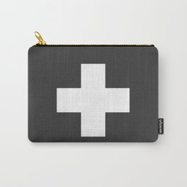 Swiss Cross Charcoal Carry-All Pouch