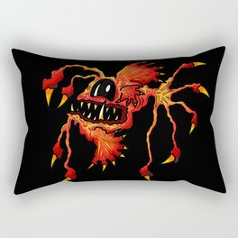 Creatures from the deep dark sea - Spiked Red Angler Fish Rectangular Pillow